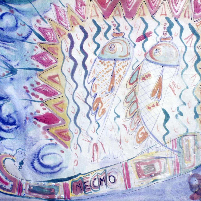 "Pañuelo ""Mecmo"" pongé 90 x 90 cm"