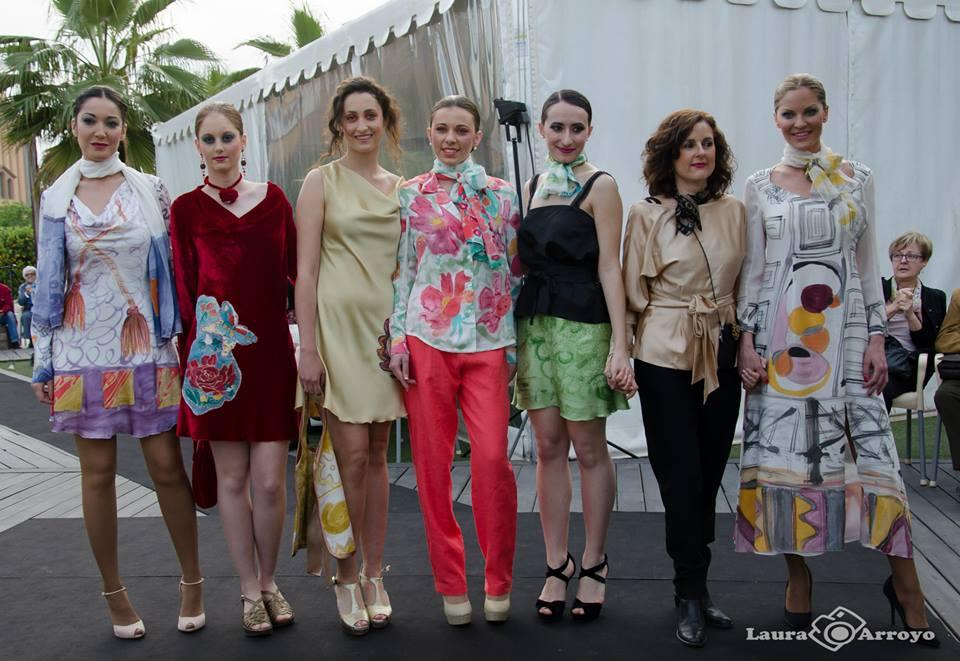 El grupo de modelos  con Ruth de la Puerta