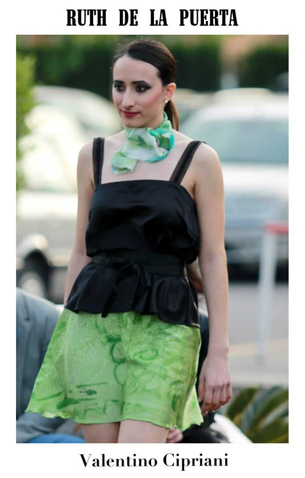 Miriam desfilando en Tosca. Fotografía: Valentino Cipriani
