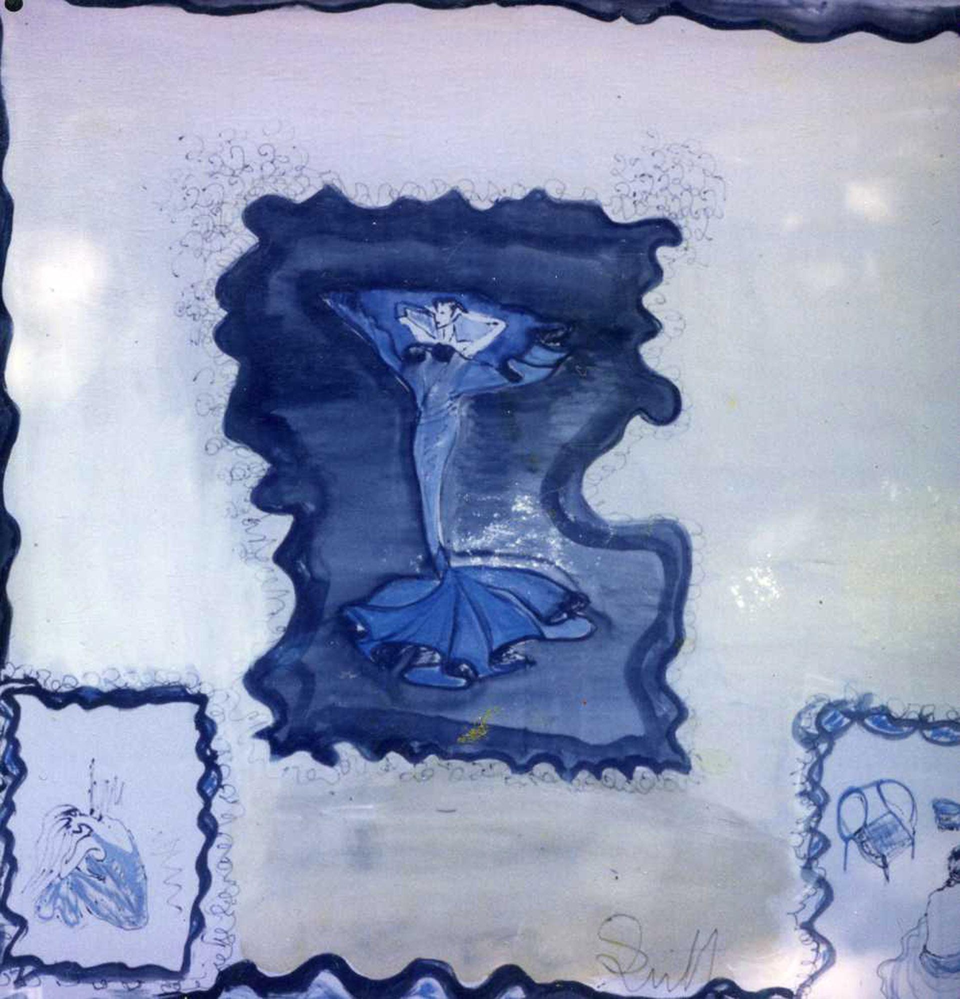 "Pañuelo ""Homenaje a Degas"" pongé 90 x 90 cm"