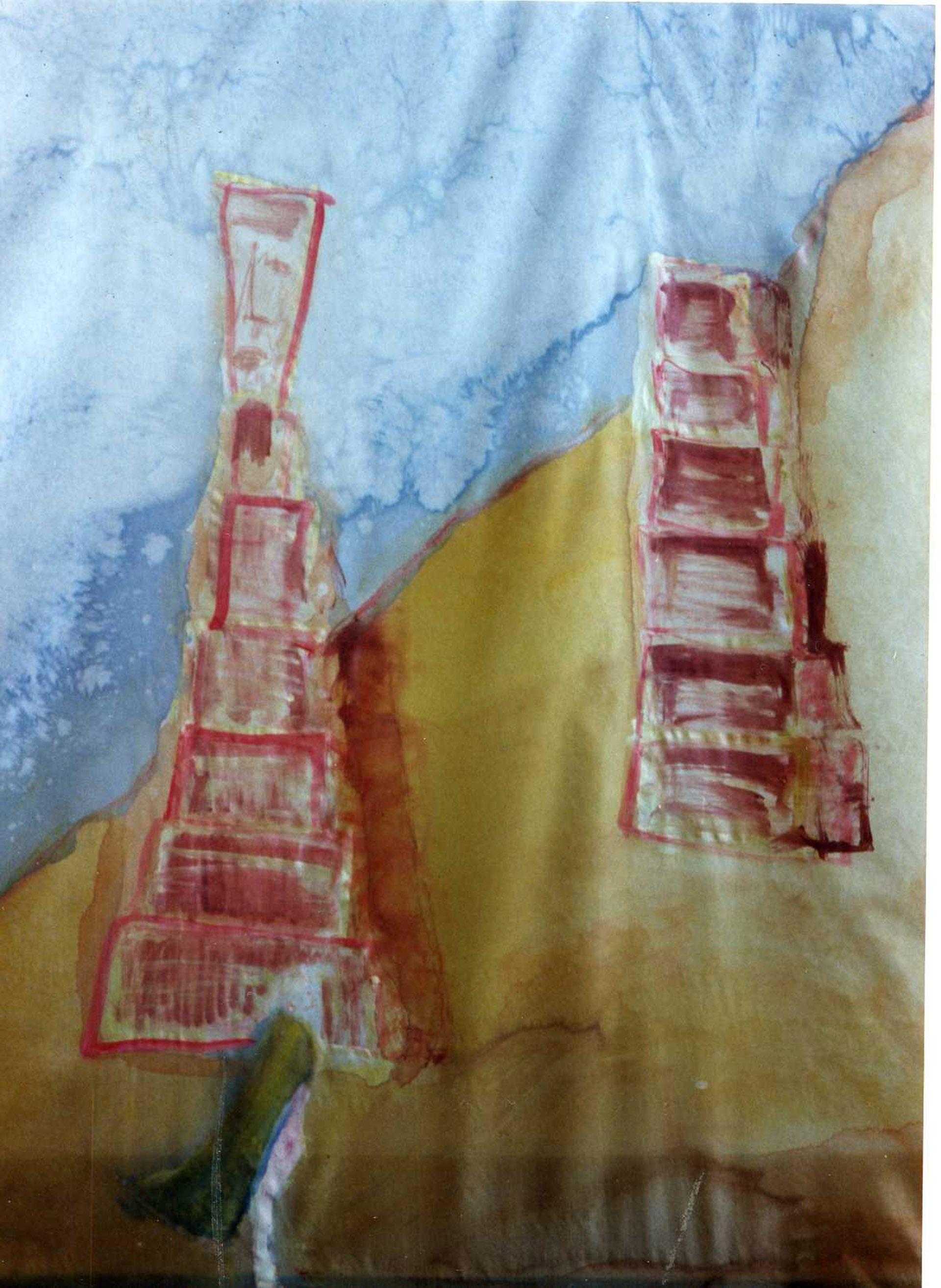"Pañuelo ""Cabo san Vicente"" de Portugal en seda (pongé 90 x 90 cm)"
