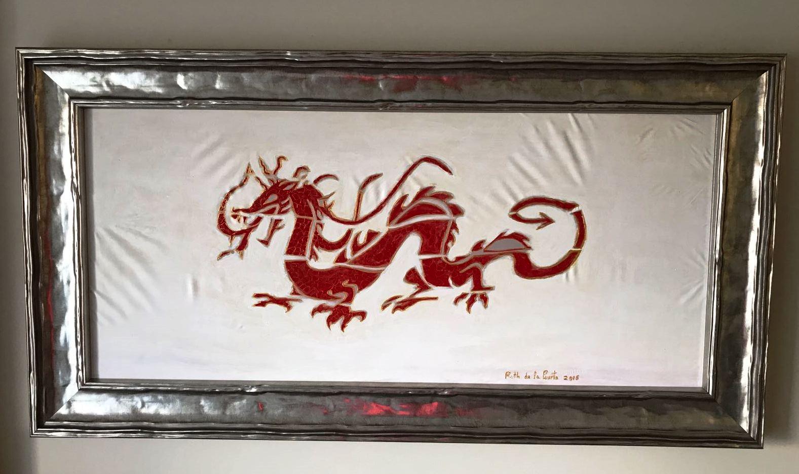 """Pañuelo """"EL dragón"""" para apartamento de playa"""