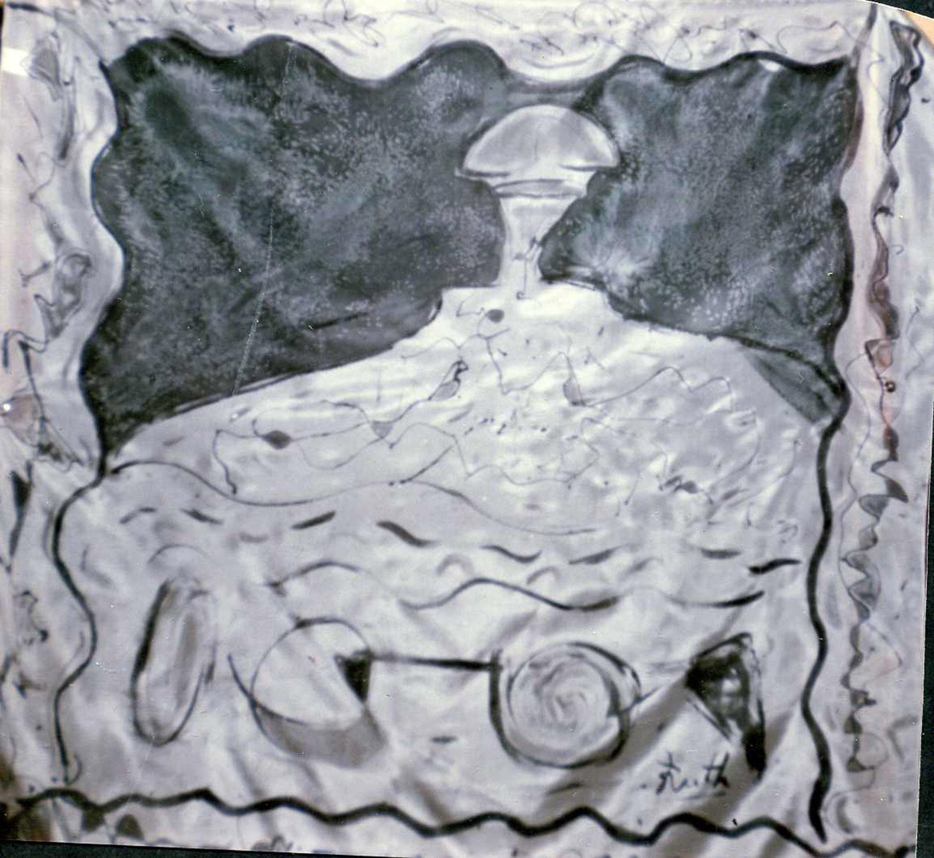"""Pañuelo """"Menina"""" en homenaje a Velázquez, pongé 90 x 90 cm"""