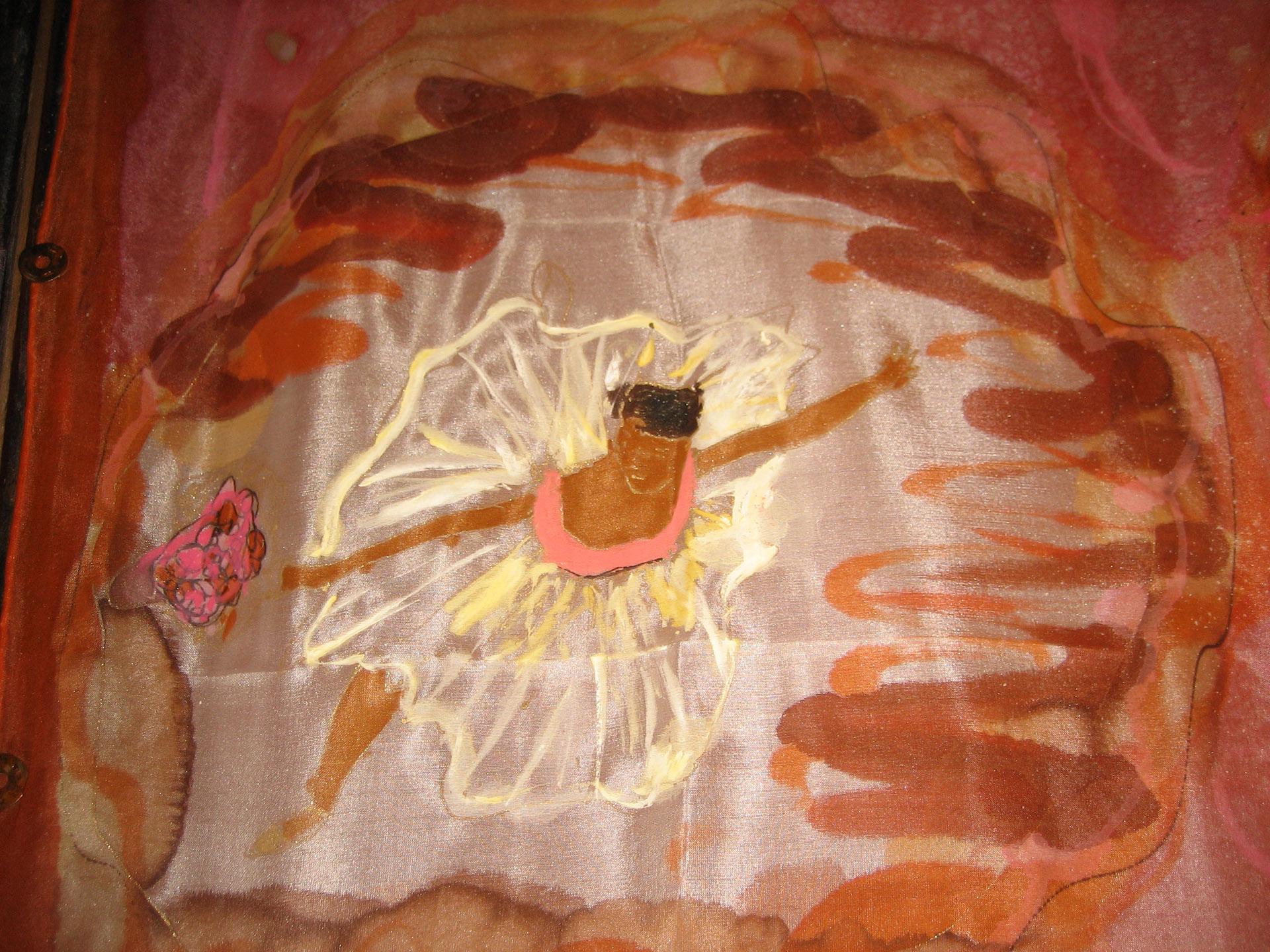 "Pañuelo ""Homenaje  a Degas"", detalle bailarina"