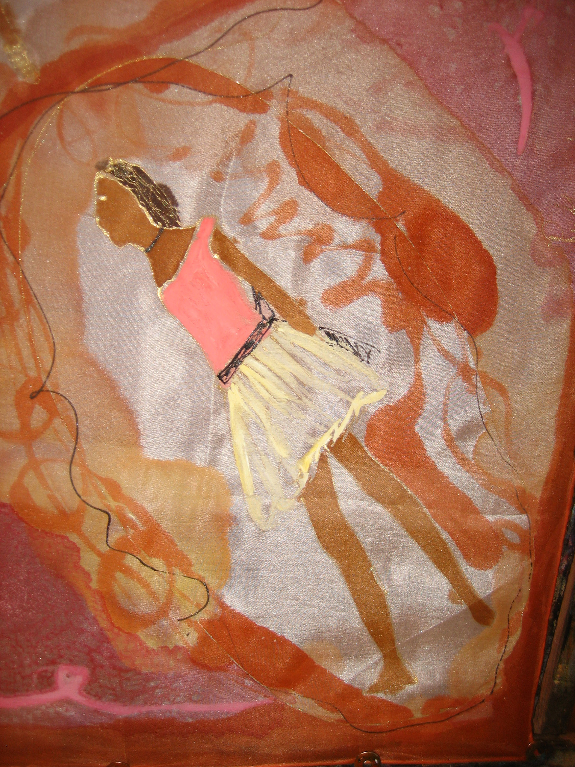 """añuelo """"Homenaje  a Degas"""", detalle bailarina"""