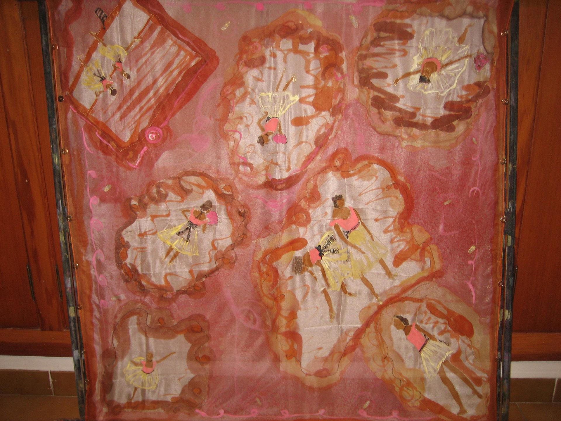 """añuelo """"Homenaje  a Degas"""", pongé 90 x 90 cm"""