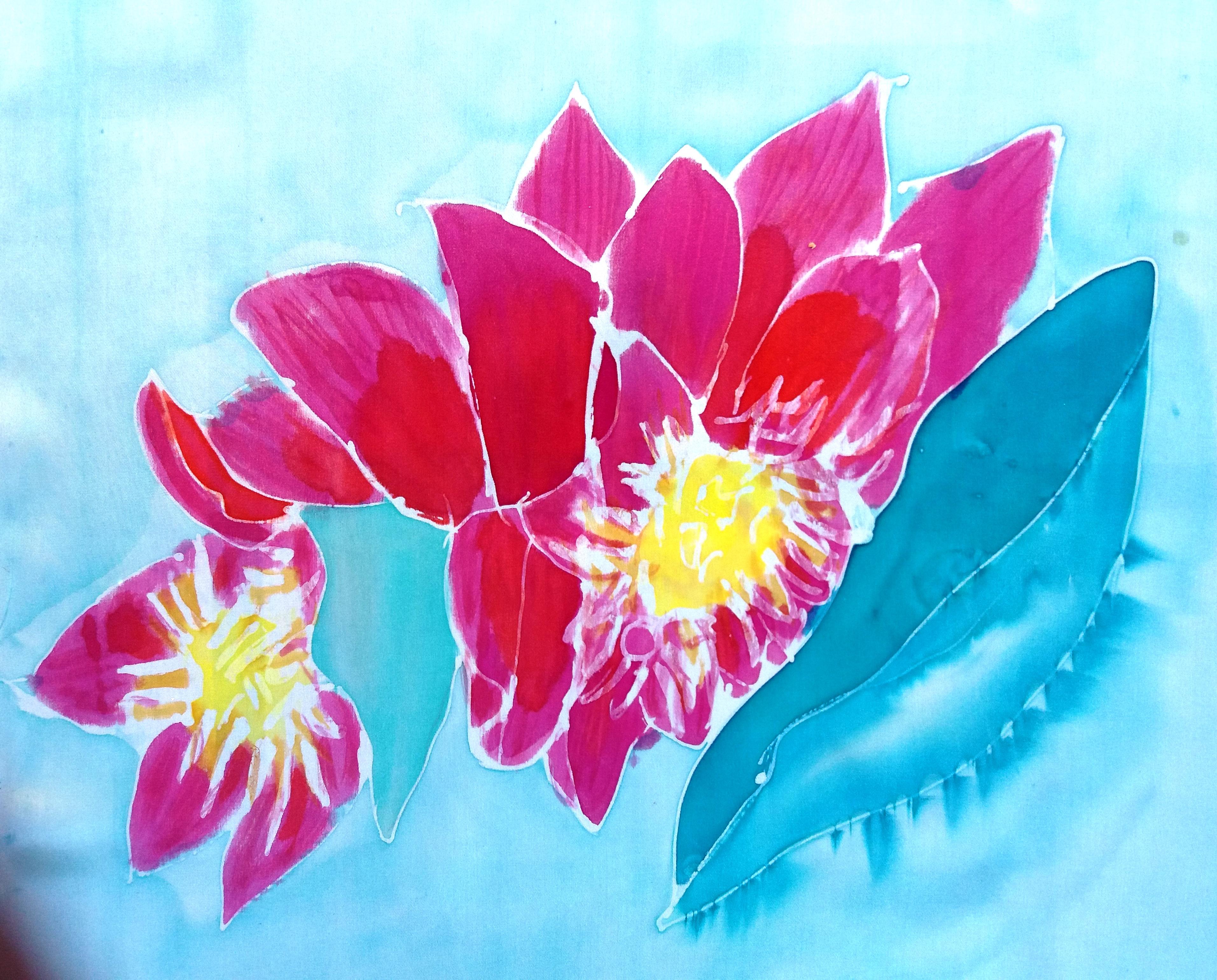 """Detalle de flor del fular """"Mix flores Cote Cabrera""""."""