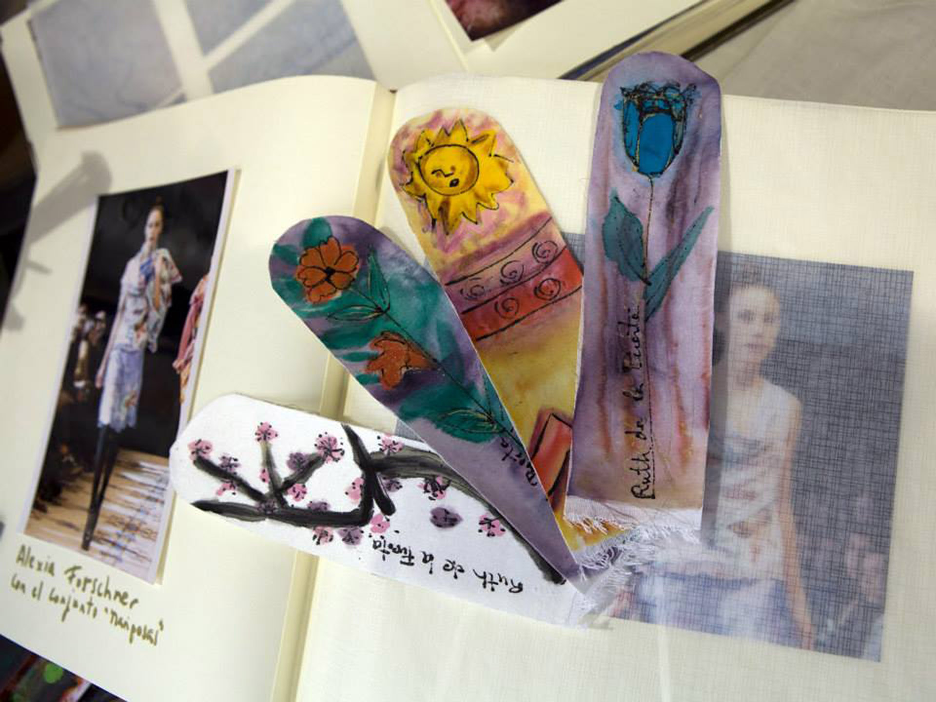 Diferentes marcapáginas para libros y álbumes de fotos