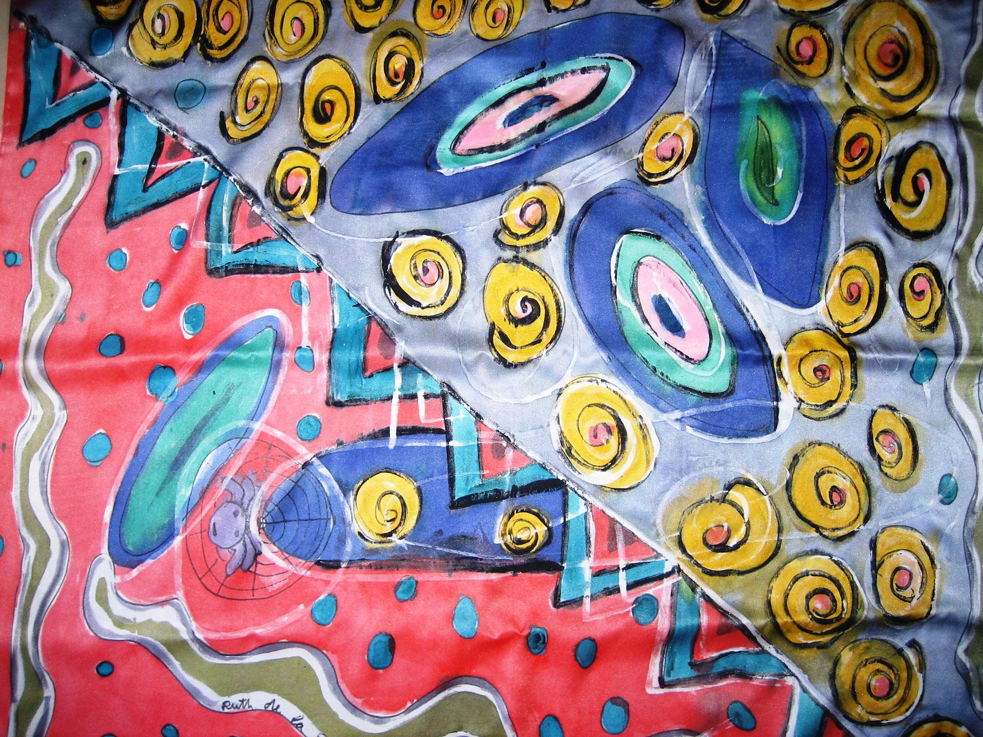 "Pañuelo ""Serpiente"" crepe satén 90 x 90 cm"