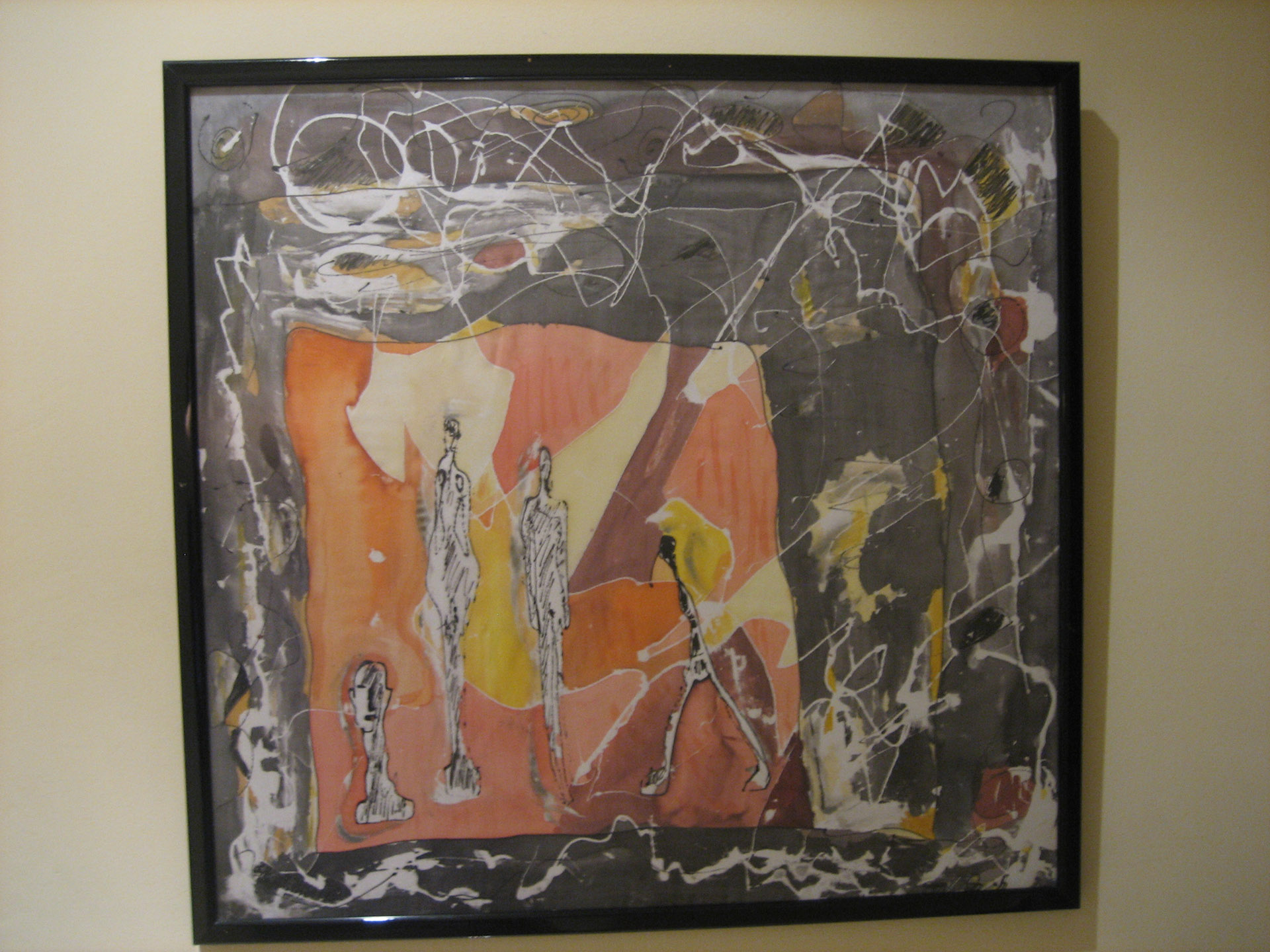 "Pañuelo ""Giacometti"" pongé  50 x 50 cm"