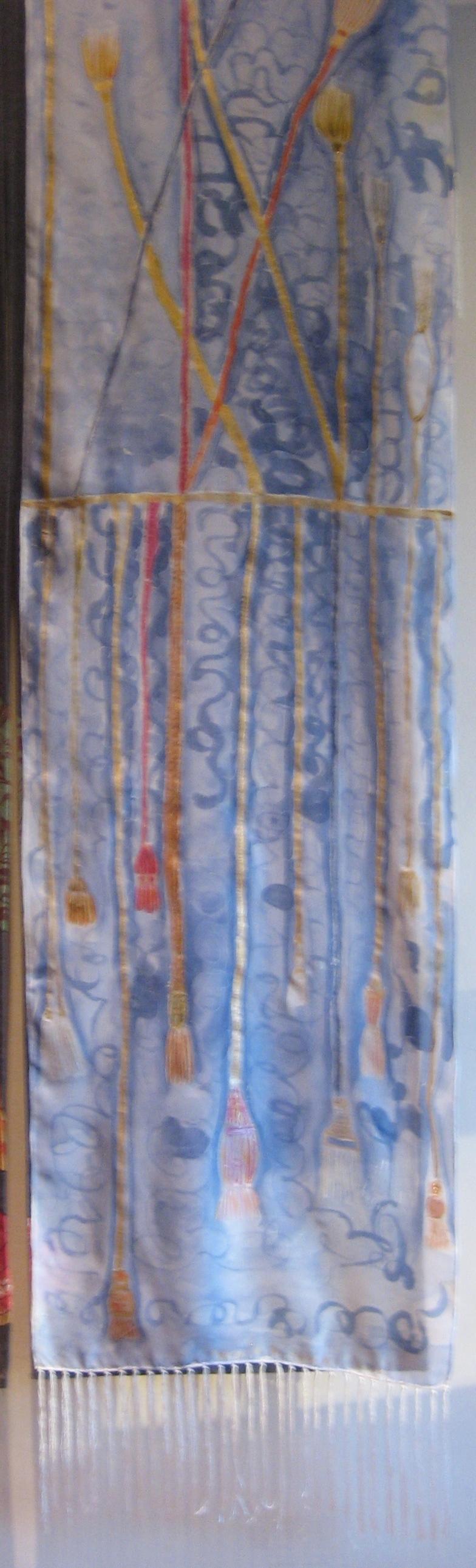 "Fular ""La Pasamneria"" seda habotai 180 x 45 cm"