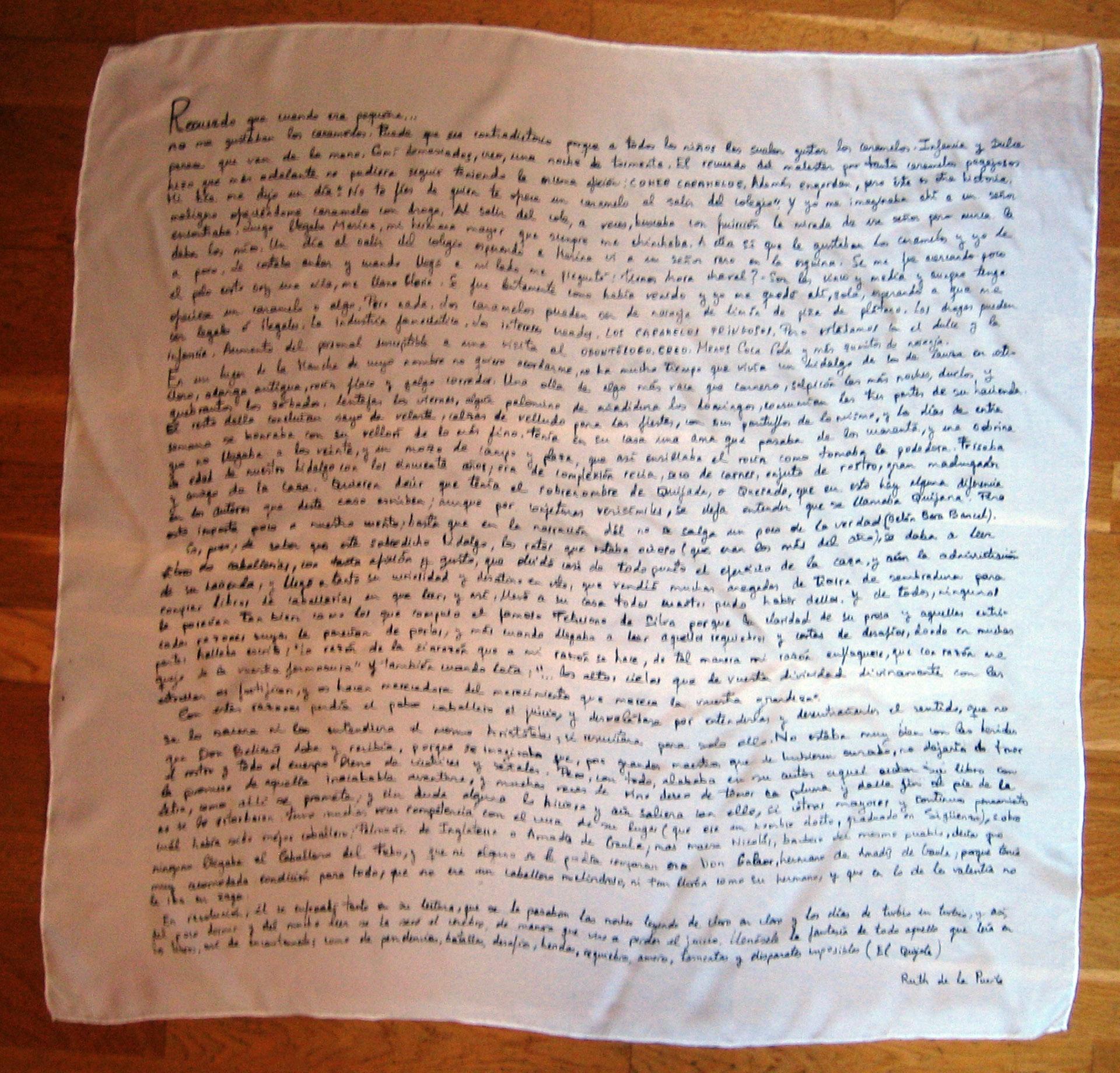 """Pañuelo """"El Quijote"""" crepe satén 90 x 90 cm"""