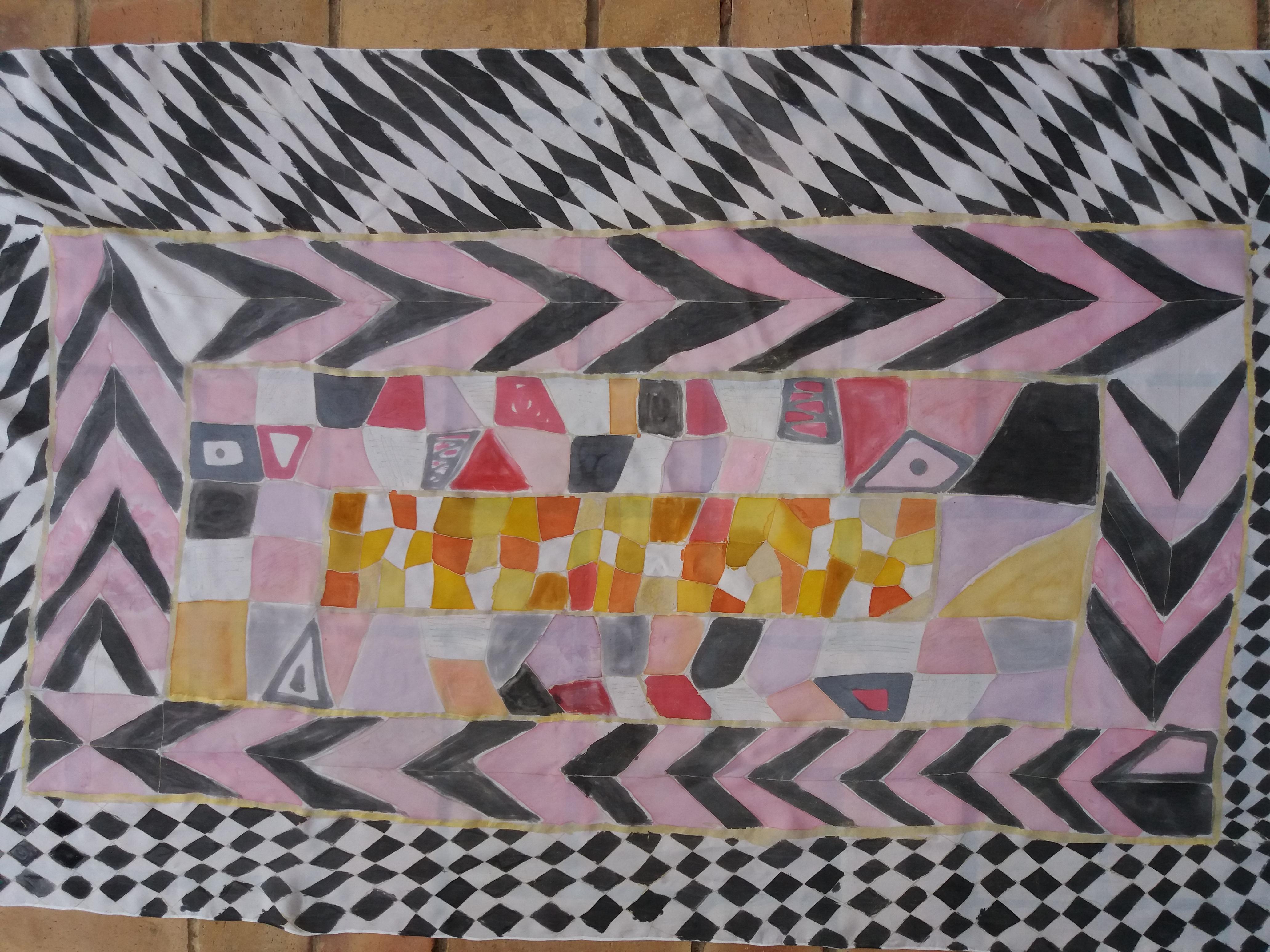 "Pareo ""Homenaje a Klimnt"", habotai, 180 x 90 cm"
