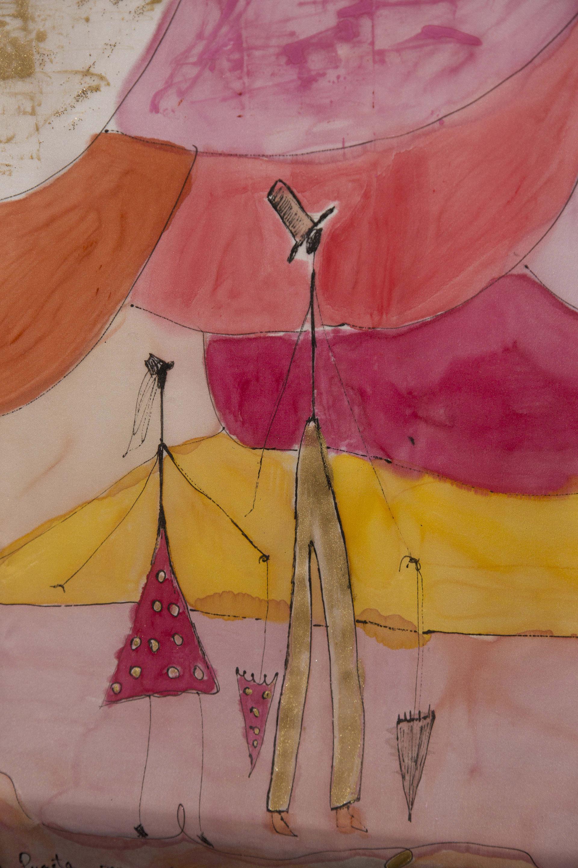 "DEealle del pañuelo ""Homenaje a Giacometti"". Fotografía: Baúl de fotos"