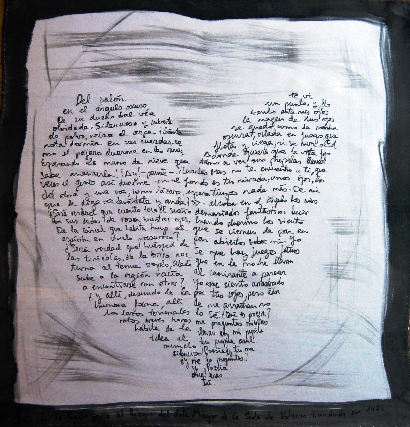 Pañuelo corazón poesía de Béquer