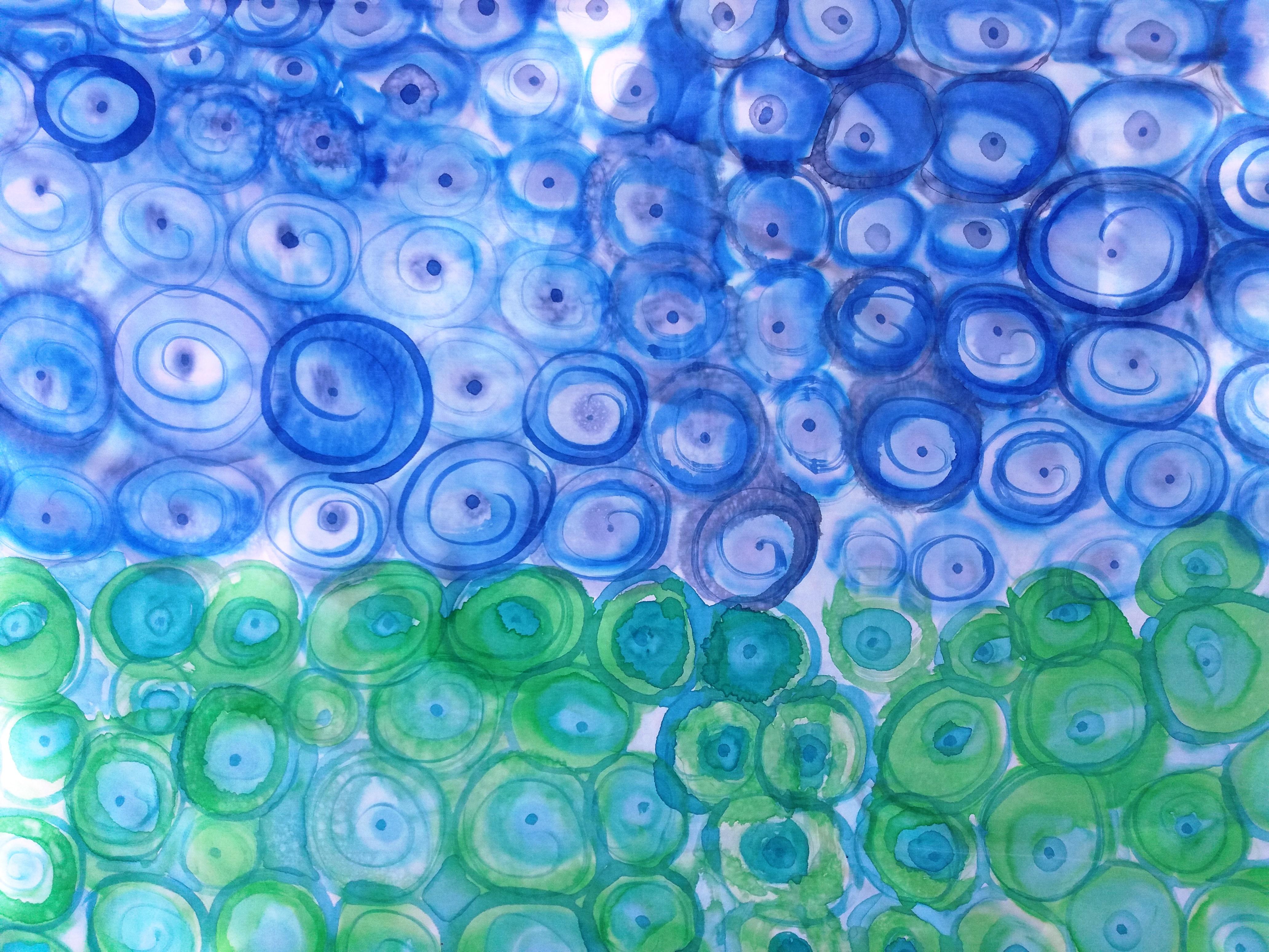 Pareo azul y verde