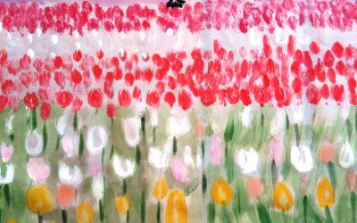 Nuevo pareo «Campo de tulipanes al atardecer»